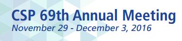 CSP Annual Meeting 2016