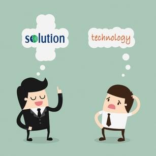 VoiceOver solution versus speech recognition technology
