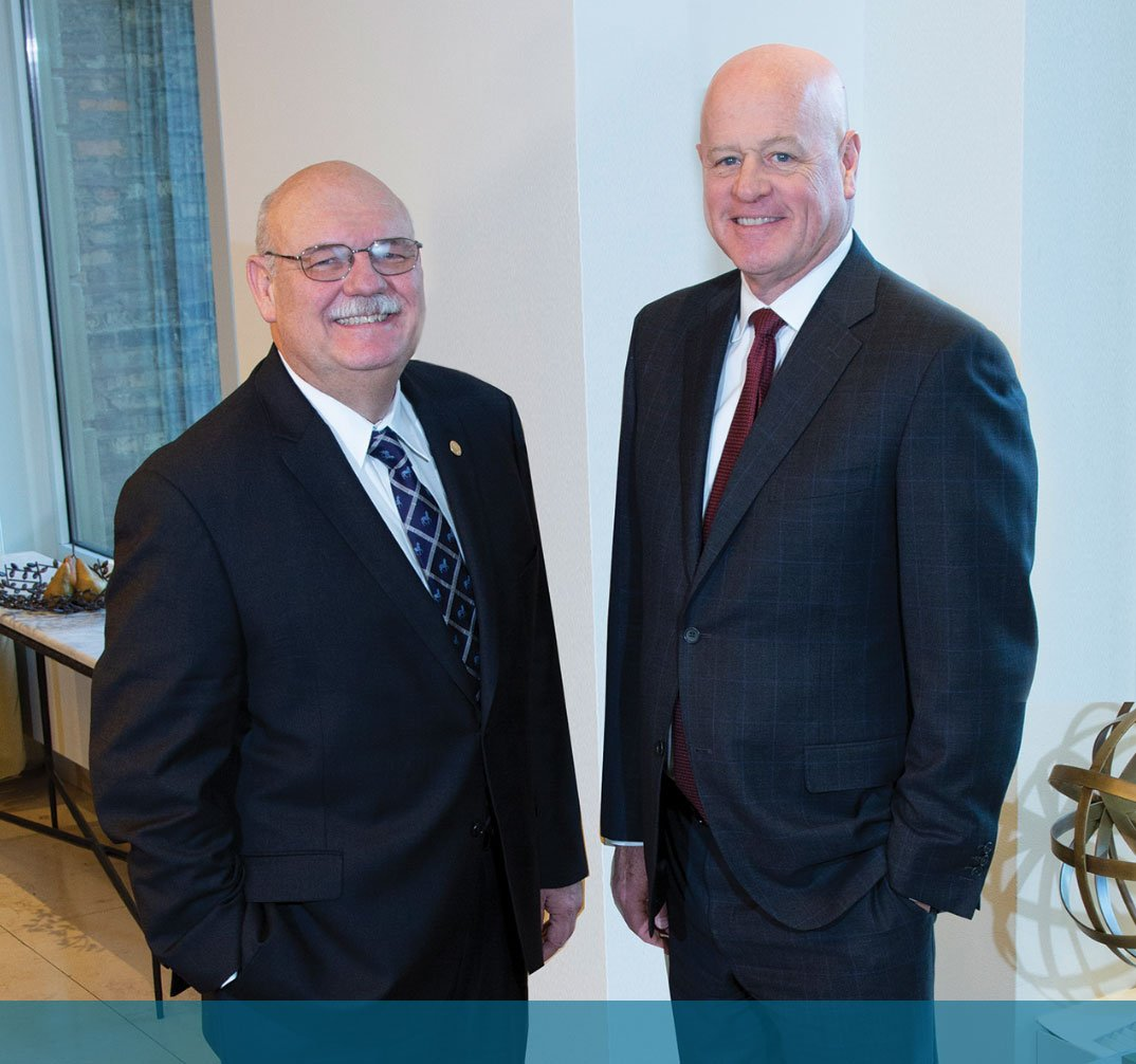 President Patrick Godbey, MD, FCAP, and Chief Executive Officer Stephen Myers